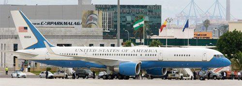 U.S. Plane at Malaga airport