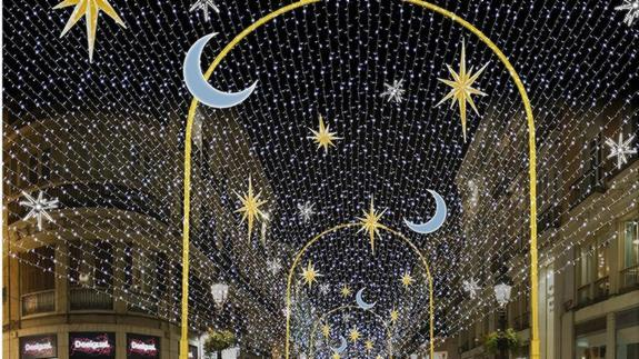 Christmas lights in Malaga 2015
