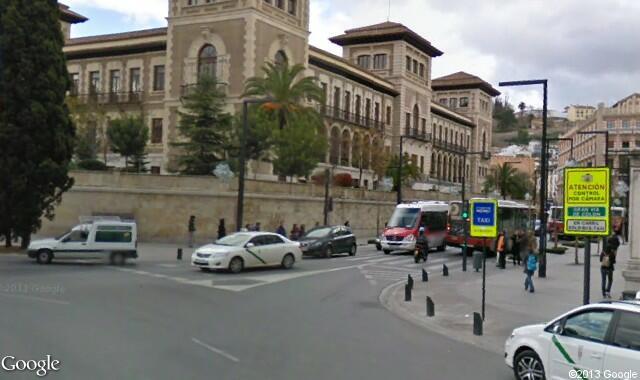 Granada traffic signs Gran Via de Colon