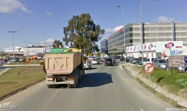 Malaga Airport roundabout traffic sign