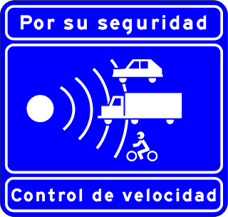 Speed control sign on Spanish motorways
