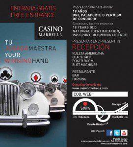 Casino Marbella invitacion