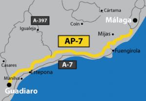 Mediterranean Motorway on the Costa del Sol