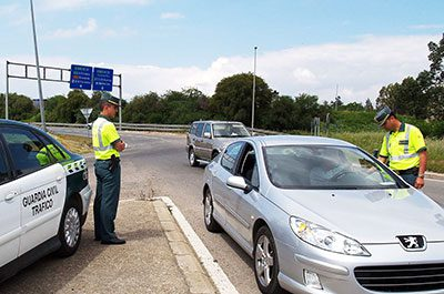 Guardia Civil stopping cars
