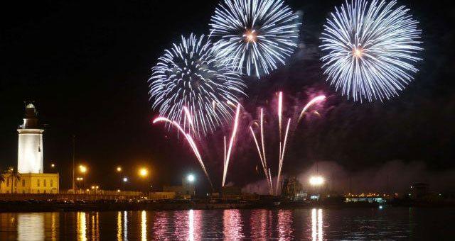 Malaga Lighthouse Fireworks