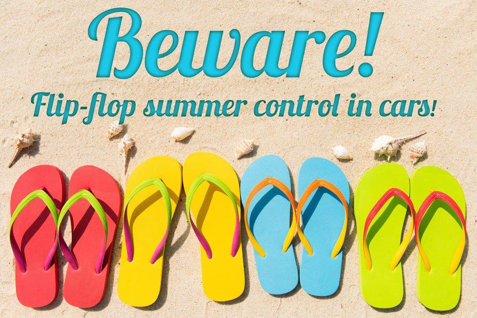 Flip-flop summer control in cars