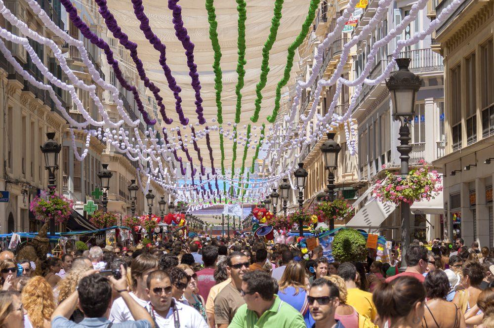 Larios Street Malaga Fair