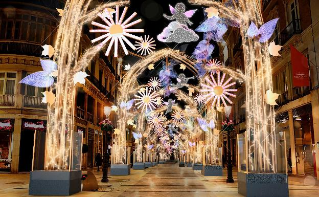 Malaga Christmas lights in Larios Street