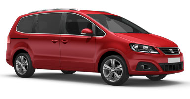 Car hire Malaga, Group PG: Seat Alham 7p - Malagacar.com