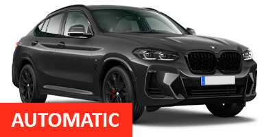 XU Jaguar F-Pace Auto, BMW X5 Auto for hire at Malaga airport