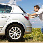 Pushing a car