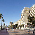 Städtische Strandpromenade