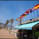 Typische traditionelle Strandbars