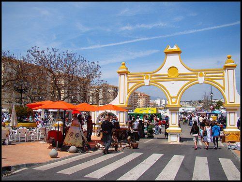 Straßen-Markt in Fuengirola