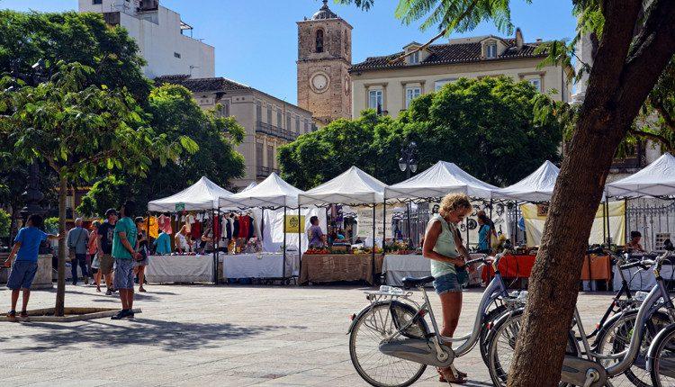 Straßen-Markt an der Plaza de la Merced, Málaga