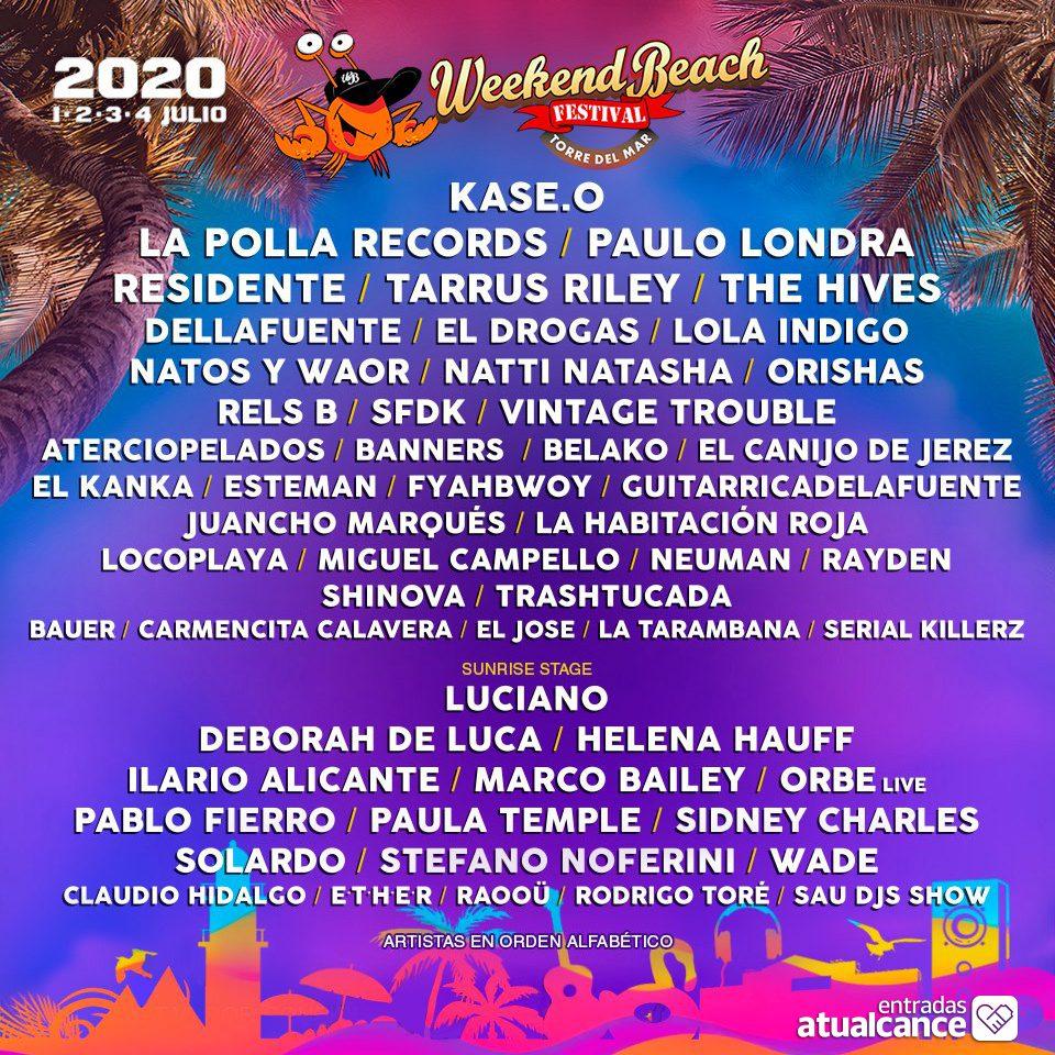 Weekend Beach Torre del Mar 2020 - Musik Festivals Costa del Sol