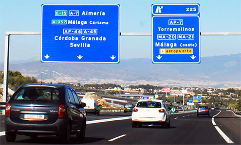 A-7 Access to Malaga airport