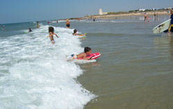 Malaga beaches - children having fun