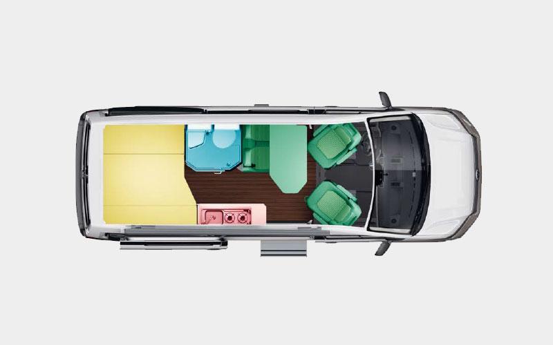 Volkswagen Grand California 600 Layout