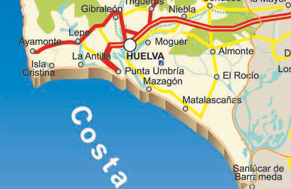 Complete map of Huelva