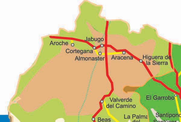 Road Map Of Northern Spain.Huelva Roads Map Of Huelva Huelva Roadmap Spain