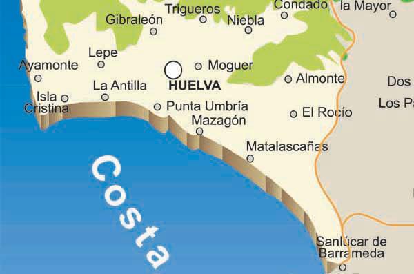 Pueblos De Huelva Mapa.Huelva Mapa Ciudadesy Pueblos