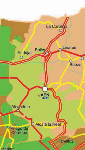 Jaen Mapa De Carreteras