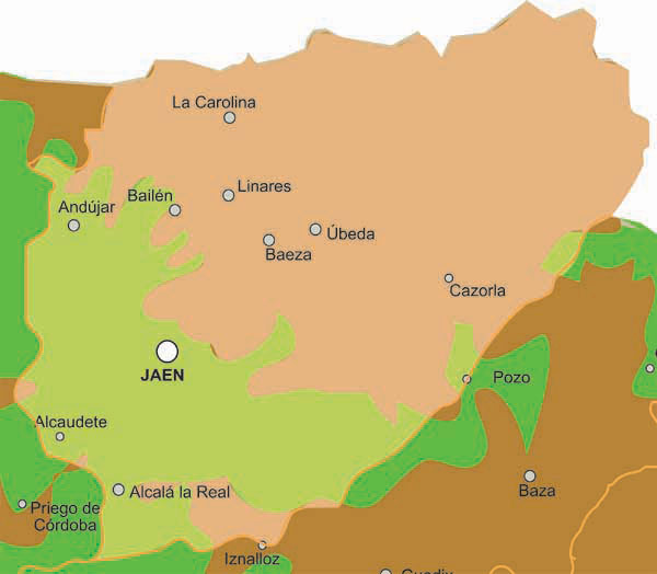 jaen towns map