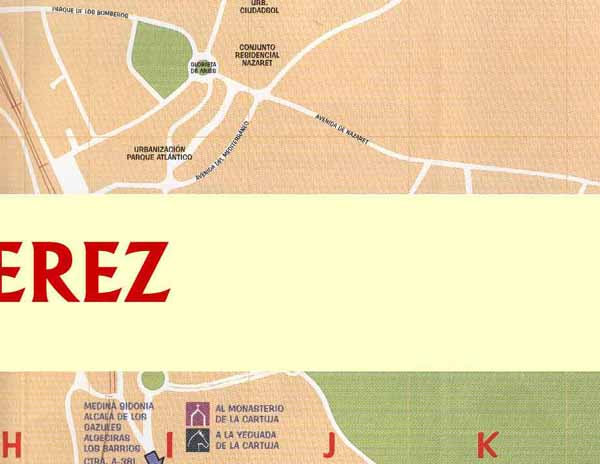 Street map of Jerez - Zone 17