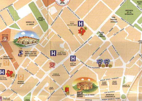 Street map of Jerez - Zone 4