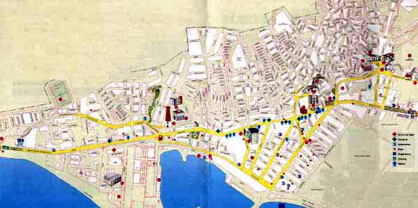 Callejero Mapa De Malaga Capital.Mapa Callejero De Adra Almeria