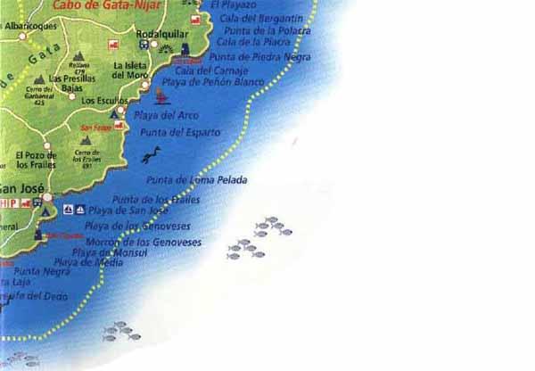 Almeria Turismo Mapa De La Costa De Almeria Informacion De Malaga