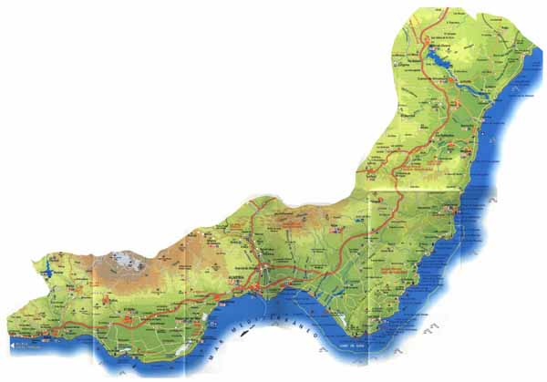 Coast Of Spain Map.Almeria Coast Map Of Almeria Almeria Coast Map Spain