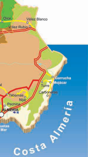 Map Of Spain Almeria.Almeria Province Complete Map In Spain