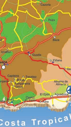 almeria roads map