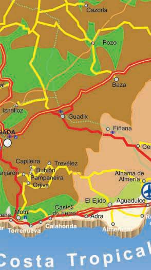 Road Map Of Almeria Almeria Province In Spain