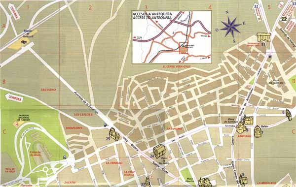 Antequera street map of antequera street map Antequera city center