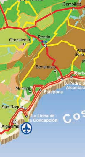 Costa De La Luz Spain Map.Map Of Cadiz Province Spain