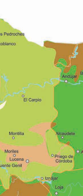 Mapa Pueblos De Cordoba.Mapa De Rios De Cordoba Turismo Rural