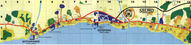 Costa del Sol map Spain Map of Costa del Sol