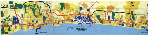 Costa del Sol map Spain Map of Costa del Sol – Tourist Map Of Ronda Spain