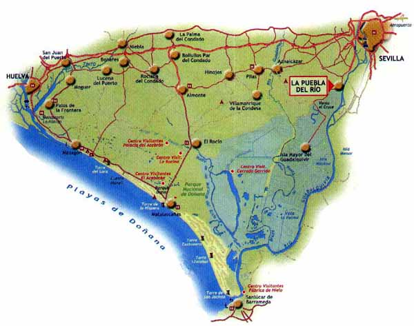 Marismas Del Guadalquivir Mapa.Mapa De Donana Huelva