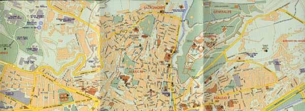 Malaga Altstadt Karte.Karte Von Granada Spanien Stadtplan Granada