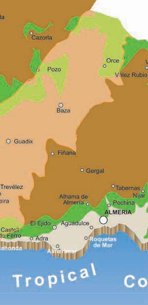 Granada Karte.Karte Orte In Der Provinz Granada