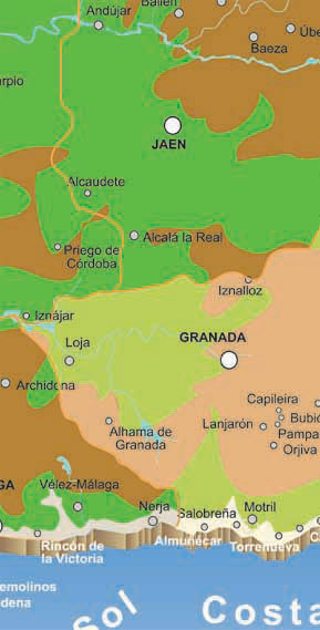 granada rivers map