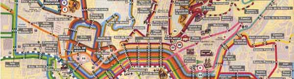 Granada buses map Bus station and buses lines in Granada Spain