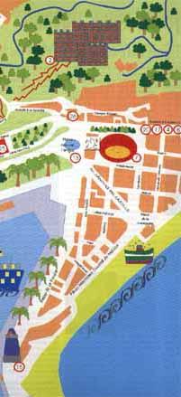 Mapa Callejero De Malaga.Mapa Callejero De Monumentos En Malaga