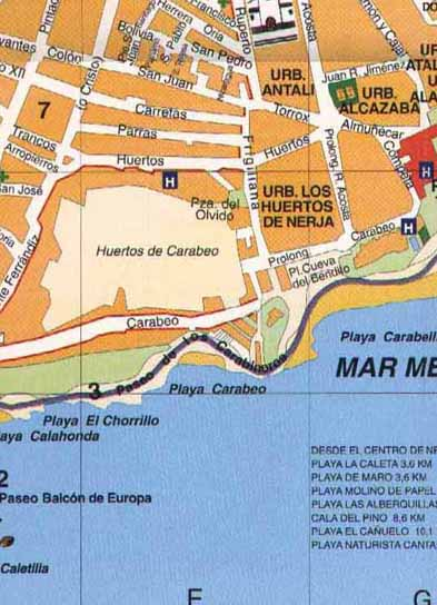 Street map of Nerja - Zone 7