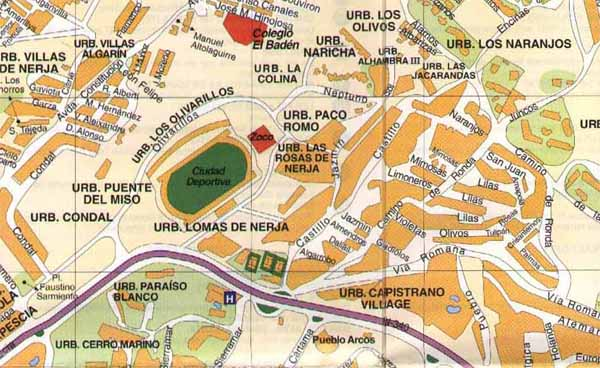 Street map of Nerja - Zone 9