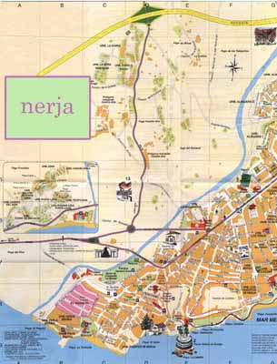 Nerja street map Strolling around
